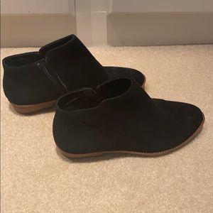 Gianni Bini black suede booties.